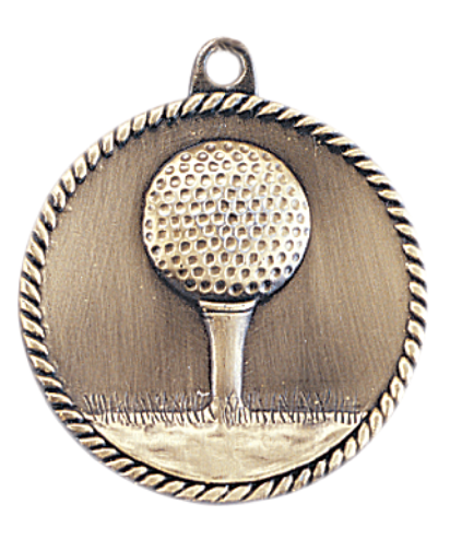 "2"" Golf High Relief Medal"