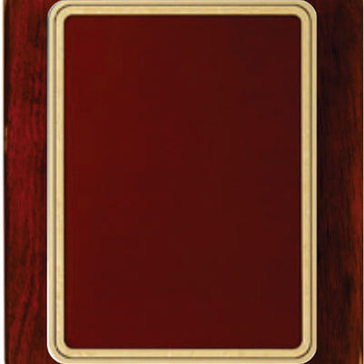 Rosewood Piano Finish Round Corner Plaque