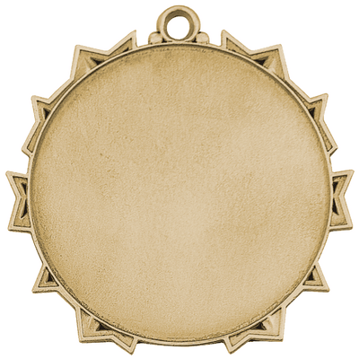 "Gold Golf 2-1/4"" Ten Star Medal"