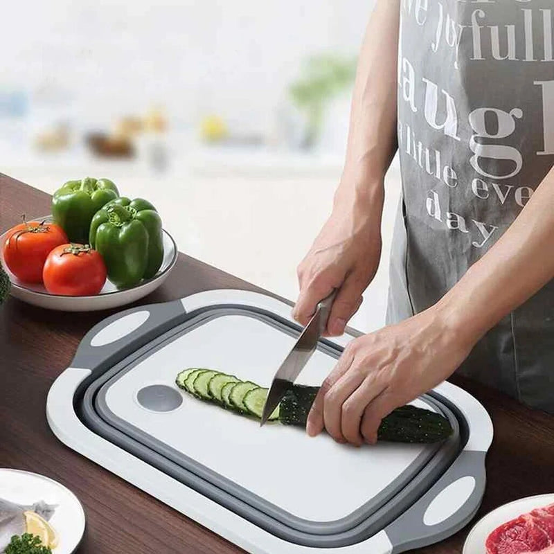 Folding Plastic Cutting Boards Chopping Dish Tub - Slinero™ Chopping Blocks Slinero™ Hourglassify®