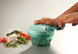 Manual Meat Grinders Mint Green Spinza™ Hourglassify®
