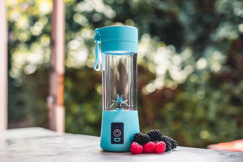 Mini Smoothie Blender Portable Fruit Juice Extractor- Blendinator™ Portable Blender Blue Blendinator™ Hourglassify®