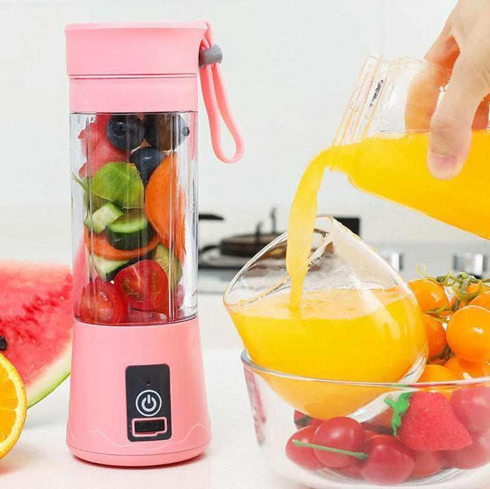 Mini Smoothie Blender Portable Fruit Juice Extractor- Blendinator™ Portable Blender Pink Blendinator™ Hourglassify®