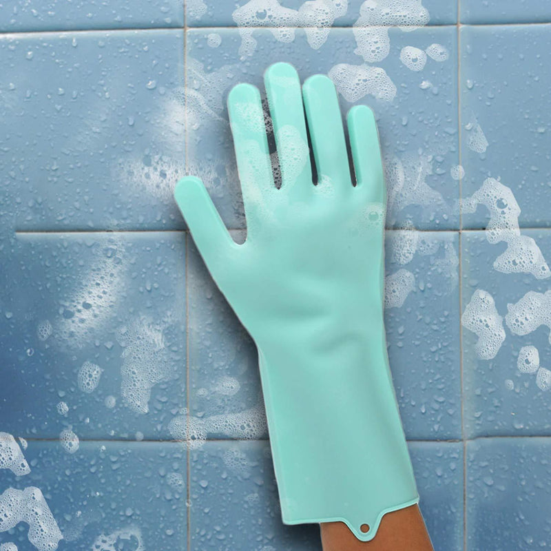 Silicon Scrubbing Sponge Gloves Dish Washing Scruves™  Household Gloves Scruves™ Hourglassify®