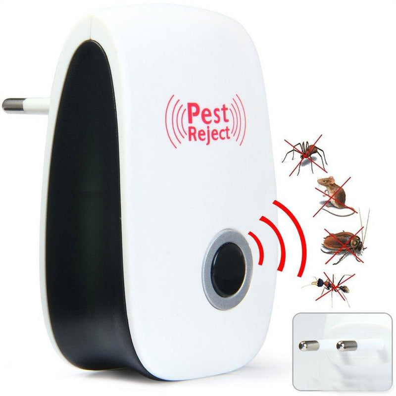 Ultrasonic Pest Repeller Electronic Ant Rat Bug Repellent Pest Reject - Pack of 2 Hourglassify®