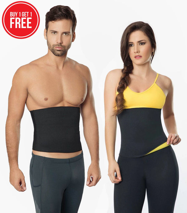 Unisex Body Shaper Hot Sweat Slimming Shaper Belt (Pack of 2) Waist Cinchers Unisex Sweat Shaper (Pack of 2) Hourglassify®