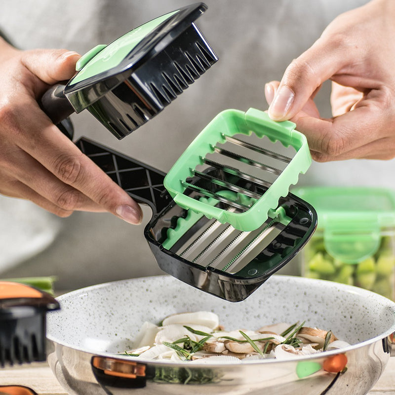 Vegetable Fruit Salad Cutter Slicer Dicer Machine - Slicie™ Shredders & Slicers Green Slicie™ Hourglassify®