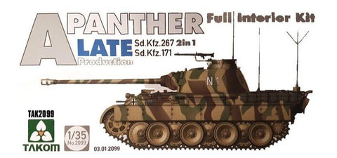 Takom Military Models 1/35 WWII Panther A Late Prod. German Med. Tank