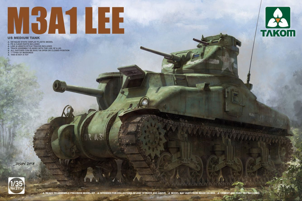 Military Tanks For Sale >> Plastic Military Models For Sale Takom 1 35 Us M3a1 Lee Medium Tank