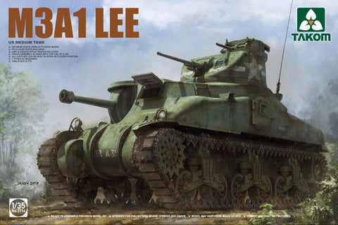 Takom 1/35 US M3A1 Lee Medium Tank Kit Box Art