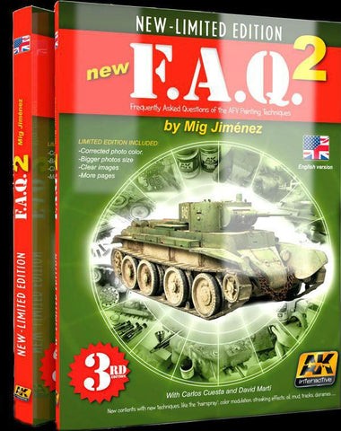 AK Interactive Books - FAQ 2 AFV Painting Techniques 3rd Edition Book