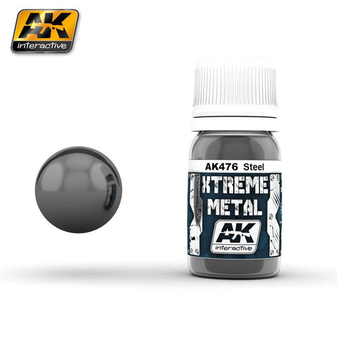 AK Interactive Xtreme Metal Steel Metallic Paint 30ml Bottle