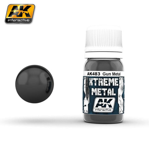 AK Interactive Xtreme Metal Gun Metal Metallic Paint 30ml Bottle