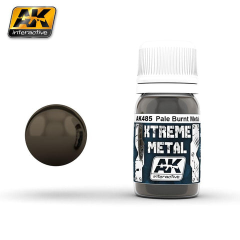 AK Interactive Xtreme Metal Pale Burnt Metal Metallic Paint 30ml Bottle
