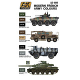 AK Interactive Modern French Army Acrylic Paint Set (6 Colors) 17ml Bottles