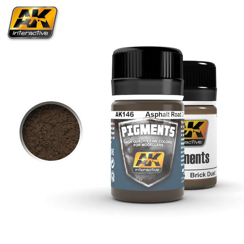AK Interactive Asphalt Road Dirt Pigment 35ml Bottle