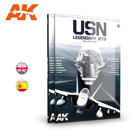 AK Interactive USN Legendary Jets Aircraft Scale Modeling Guide