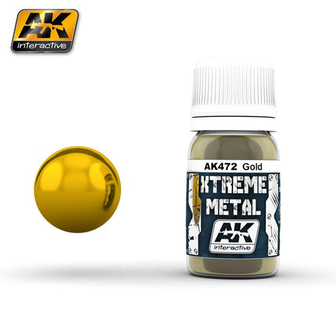 AK Interactive Xtreme Metal Gold Metallic Paint 30ml Bottle