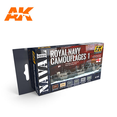 AK Interactive Naval Series: Royal Navy Camouflages 1 Acrylic Paint Set