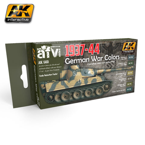 AK Interactive WWII German Camouflage War Colors 1937-44 Acrylic Paint Set