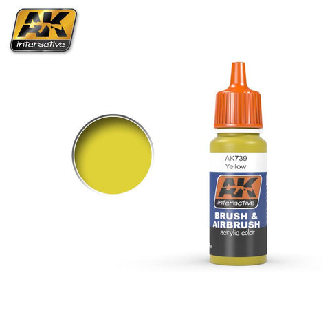 AK Interactive Yellow Acrylic Paint 17ml Bottle