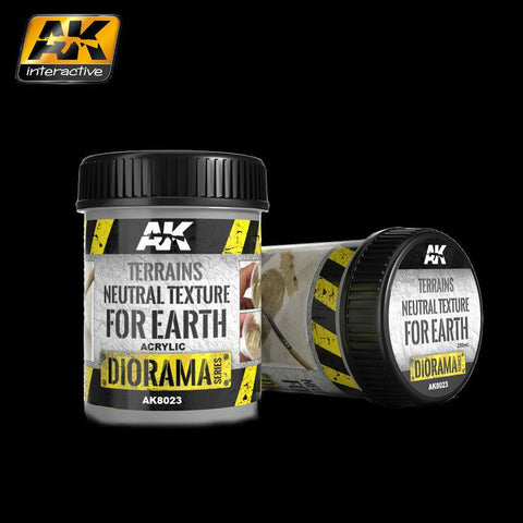 AK Interactive Diorama Series: Terrains Neutral Texture for Earth Acrylic 250ml Bottle