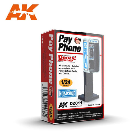 AK Interactive 1/24 Doozy Series:  Pay Phone (Resin) Kit