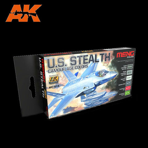 AK Interactive US Stealth Camouflage Colors Acrylic Paint Set (6 Colors) 17ml Bottles