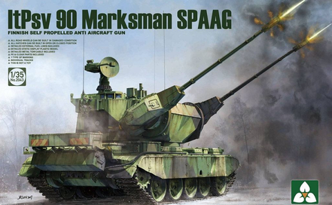 Takom 1/35 Finnish ItPsv90 Marksman Self-Propelled Anti-Aircraft Gun Kit