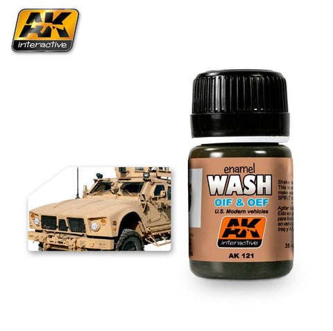 AK Interactive OIF & OEF US Modern Vehicles Wash Enamel Paint 35ml Bottle