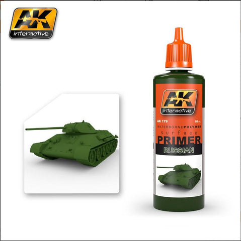 AK Interactive Russian Green Acrylic Primer 60ml Bottle