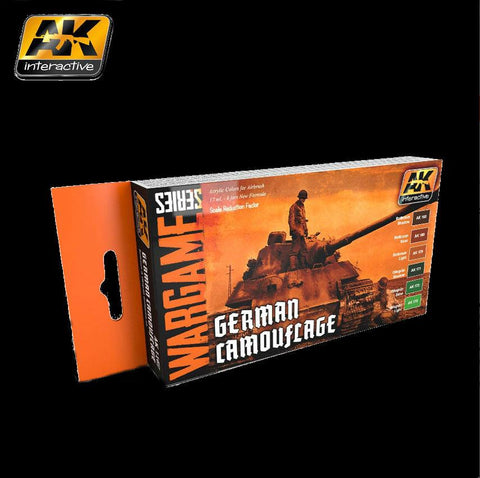 AK Interactive Wargame Series: German Camouflage Acrylic Paint Set (6 Colors) 17ml Bottles
