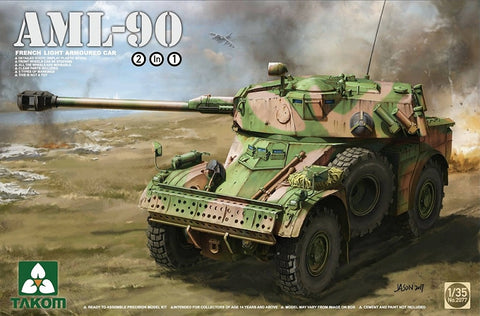 Takom 1/35 French AML90 Light Armored Car (2 in 1) Kit