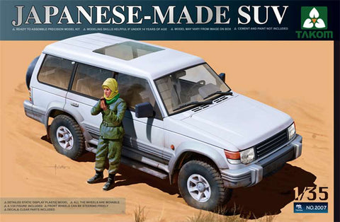 Takom 1/35 Japanese-Made SUV w/Figure Kit