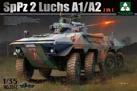 Takom 1/35 SpPz2 Luchs A1/A2 Bundeswehr Recon Vehicle (2 in 1) Kit