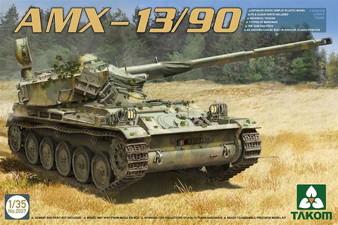 Takom 1/35 Scale Plastic Model Assembly Kit French AMX 13/90 Tank