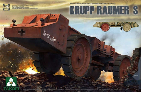 Takom 1/35 WWII German Krupp Raumer S Super Heavy Mine Clearing Vehicle Kit