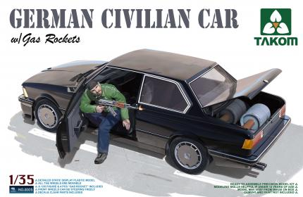 Takom 1/35 Plastic Model German Civilian Car Gas Rockets Kit