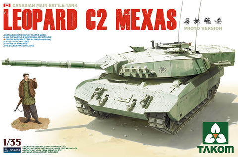Takom 1/35 Plastic Military Model Main Battle Tank Leopard C2 MEXAS