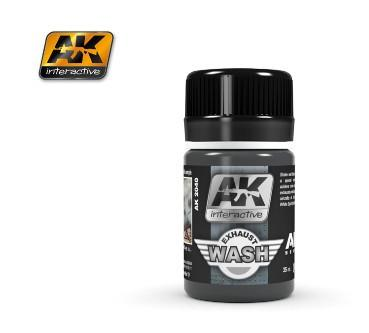 AK Interactive Air Series: Exhaust Enamel Wash 35ml Bottle