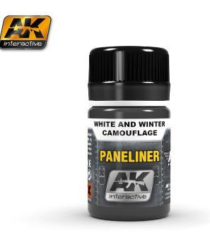 AK Interactive Air Series: Panel Liner White & Winter Camouflage Enamel Paint 35ml Bottle