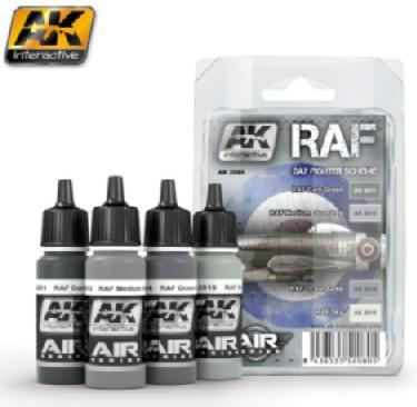 AK Interactive Air Series: RAF Day Fighter Scheme Acrylic Paint Set (4 Colors) 17ml Bottles