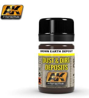 AK Interactive Dust & Deposit Brown Earth Enamel Paint