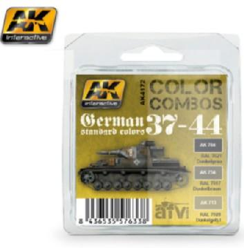 AK Interactive Color Combos: German Standard 37-44 Acrylic Paint Set (3 Colors) 17ml Bottles