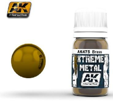 AK Interactive Xtreme Metal Brass Metallic Paint 30ml Bottle