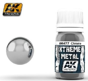 AK Interactive Xtreme Metal Chrome Metallic Paint 30ml Bottle