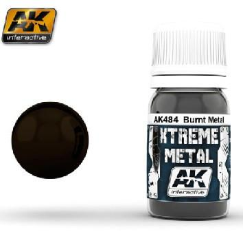 AK Interactive Xtreme Metal Burnt Metal Metallic Paint 30ml Bottle