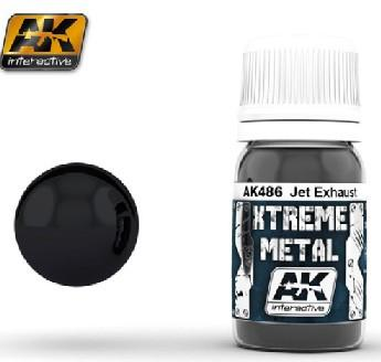 AK Interactive Xtreme Metal Jet Exhaust Metallic Paint 30ml Bottle