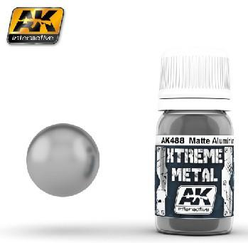 AK Interactive Xtreme Metal Matte Aluminum Metallic Paint 30ml Bottle