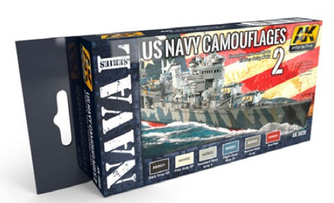 AK Interactive Naval Series: US Navy WWII Camouflage Vol.2 Acrylic Paint Set